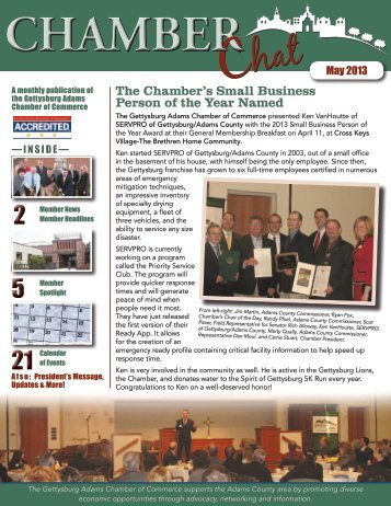 The Chamber's Small Business Person of the Year Named