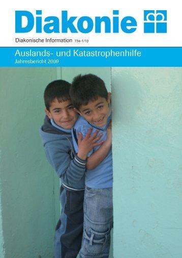 Jahresbericht 09 - Diakonie Katastrophenhilfe