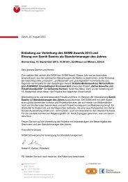Einladung / Antworttalon - SVSM - Schweizerische Vereinigung für ...