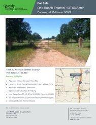 Oak Ranch Estates/ 139.53 Acres - Cassidy Turley Northern California