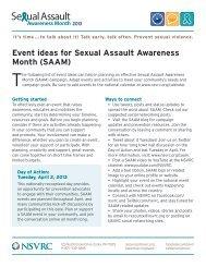 Se ual Assault - National Sexual Violence Resource Center