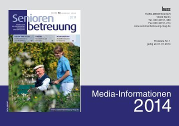 Mediadaten 2014 von Seniorenbetreuung (PDF)