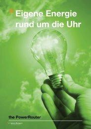 Broschüre Eigene Energie rund um die Uhr Type ... - the PowerRouter