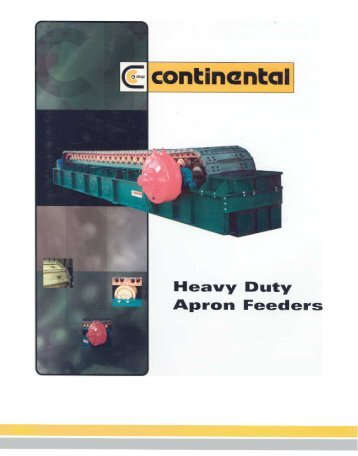 Continental Conveyor - Heavy Duty Apron Feeder Catalogue