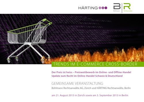 TRENdS IM E-CoMMERCE CRoSS-BoRdER - Bühlmann ...