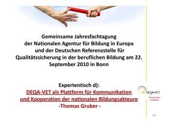 Gemeinsame Jahresfachtagung der Nationalen Agentur für Bildung ...
