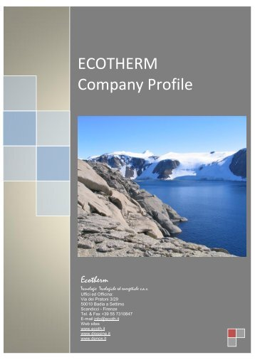 ECOTHERM Company Profile - ecoth.it
