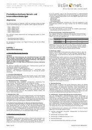 Produktbeschreibung 2.0 PDF - VEGA-net