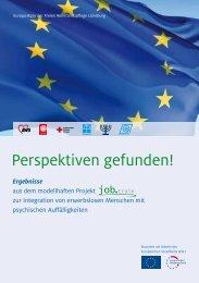 Perspektiven gefunden! - Europa-Büro der Freien Wohlfahrtspflege