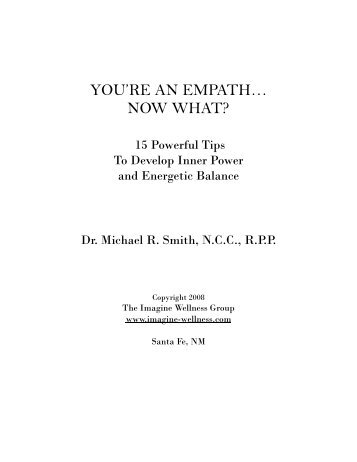 YOU'RE AN EMPATH… NOW WHAT? - Trans4mind
