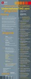 programm UnternehmerTAG 2011 - MiTschmidt-Mehr im Team