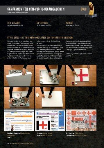 Gewinnerbroschuere 2011 - Teil 2 (pdf) - DUNANT 2010 Heiden