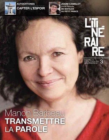 Manon Barbeau - L'Itinéraire