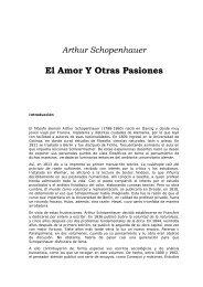 Arthur Schopenhauer El Amor Y Otras Pasiones