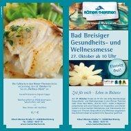 Bad Breisiger Gesundheits- und Wellnessmesse 27. Oktober ab 10 ...