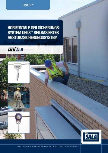 Prospekt Uni 8 Horizontales Sicherungssystem