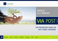 EINFACH. GUT. BERATEN. - VIA Vorsorge GmbH