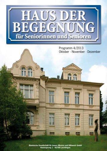 Programmheft 10 - Haus der Begegnung in Wermelskirchen