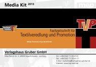 Media Kit 2013 Verlagshaus Gruber GmbH - TVP