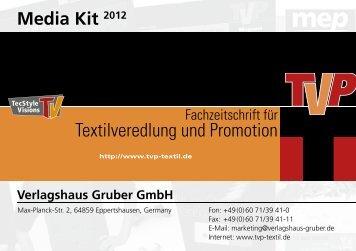 Media Kit 2012 Verlagshaus Gruber GmbH - TVP