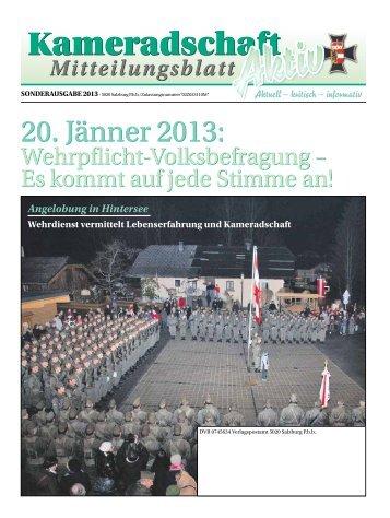 SONDERAUSGABE Jänner - Salzburger Kameradschaftsbund