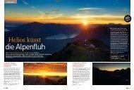 Helios küsst die Alpenfluh - Reisen Travel - Tele