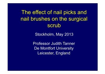 The effect of nail picks and The effect of nail picks and nail brushes ...