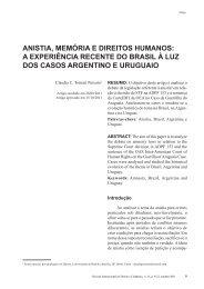 anistia, memória e direitos humanos: a experiência recente do brasil ...