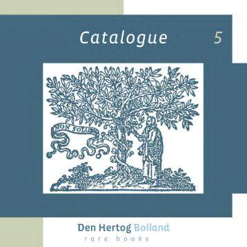 Catalogus nr 5.indd - Den Hertog Bolland Rare Books