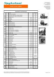 Typenblatt für Flurförderzeuge - etrak Industriefahrzeuge