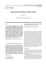 Bir jeneralize granuloma annulare olgusu - Tıp Araştırmaları Dergisi