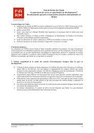 Note de lecture de l'étude Accaparement des ... - Fondation FARM
