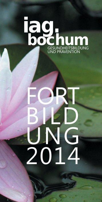 fortbildungsflyer 2014 - IAG Bochum
