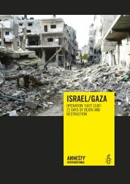 Israel/Gaza: Operation 'Cast Lead': 22 days of death and destruction