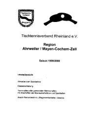 Terminplanheft 1999/2000 - Ahrweiler/Mayen-Cochem
