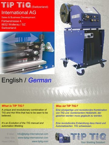 TiP TiG Introduction and Weld Samples, De / En (PDF)