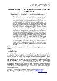 An Initial Study of Logistics Development in Malaysia East Coast ...