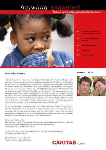 freiwillig engagiert Nr. 1/2013 - Caritas Luzern