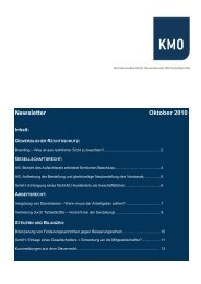 Newsletter Oktober 2010 - KMO