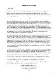 Botschaften an JNSR 2008 - Gottes Warnung
