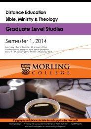 Distance Graduate Booklet - Morling College