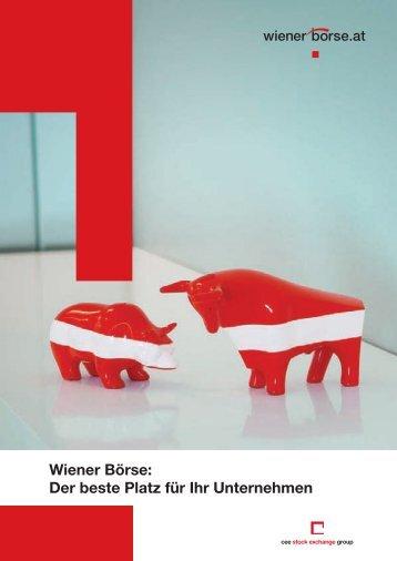 Wiener Börse: Der beste Platz für Ihr Unternehmen
