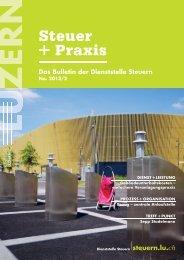 Steuer+Praxis: Ausgabe 2013/2 ist erschienen - Steuern Luzern