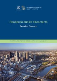 Resilience and its discontents - Melbourne Sustainable Society ...