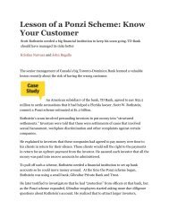 Lesson of a Ponzi Scheme: Know Your Customer - ermINSIGHTS