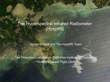 The Hyperspectral Infrared Radiometer (HyspIRI) - SSEC