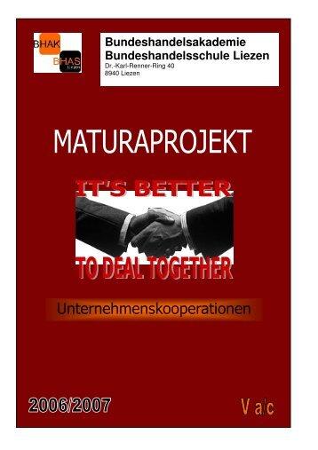 Maturaprojekt Unternehmenskooperationen - Wirtschaftspark Liezen
