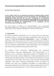 Internationale Kapitalmobilität und nationale Wirtschaftspolitik (120 ...