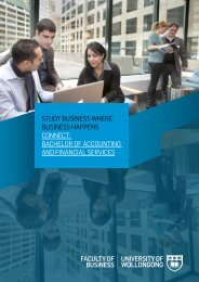 bachelor of accounting and financial services - Business @ UOW