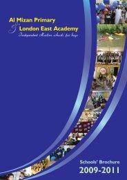 download our brochure - Al Mizan School & London East Academy